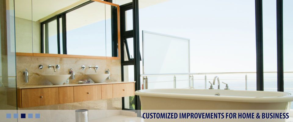 CUSTOMIZED IMPROVEMENTS FOR HOME & BUSINESS bathroom with large window