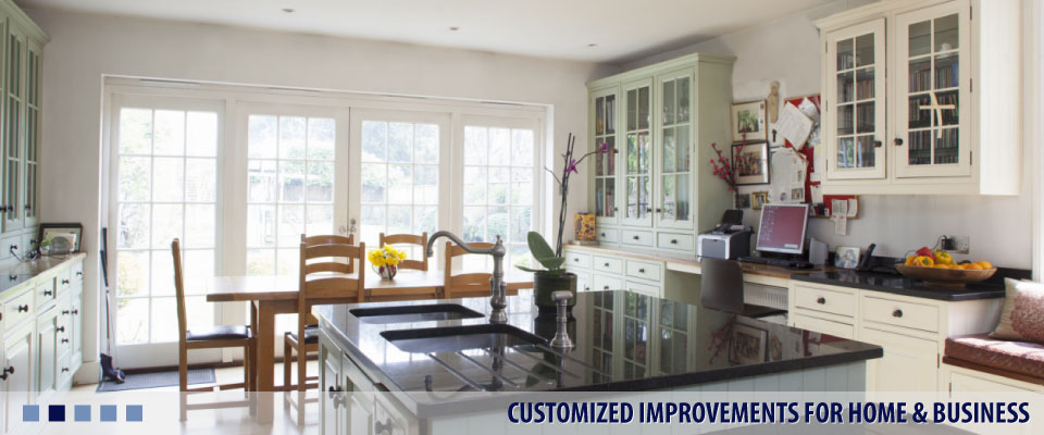 CUSTOMIZED IMPROVEMENTS FOR HOME & BUSINESS kitchen with island